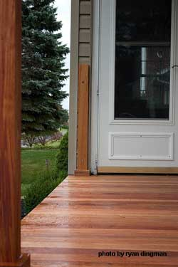 mahogony porch flooring