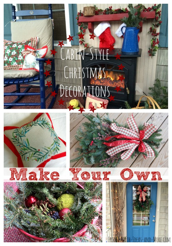 create a cabin style christmas porch with these diy ideas