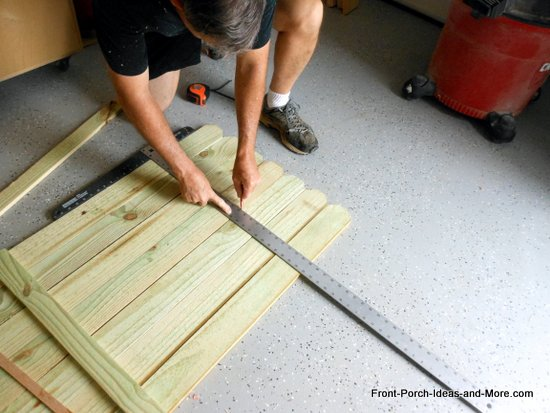 marking fence boards for rails