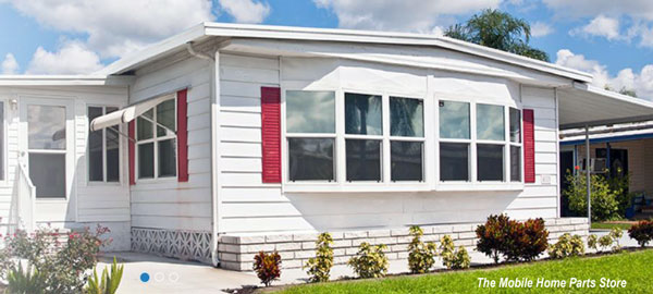 mobile home with exterior improvements