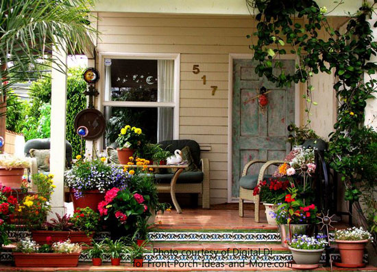 Mosaic Front Porch Steps