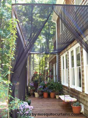 Curtains Ideas curtains for screened in porch : Mosquito Curtains Make for Easy and Affordable Porch Enclosures