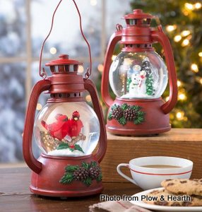 Musical Christmas lantern from Plow and Hearth