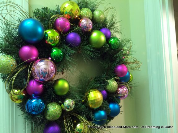 old fashioned wreath at Dreaming in Color