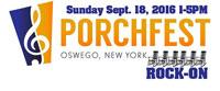 Oswego New York Porchfest logo