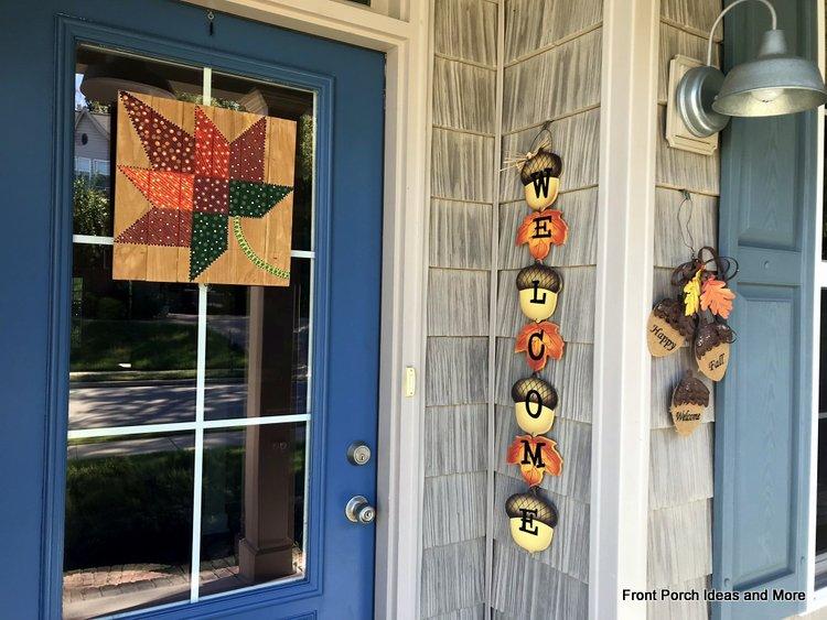 our autumn front door