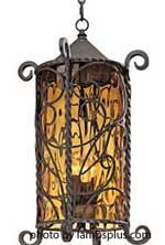Outdoor decorative pendant light