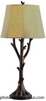 outdoor table lamp in branch pattern