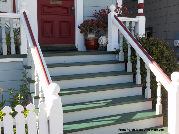 Painted Front Porch Steps