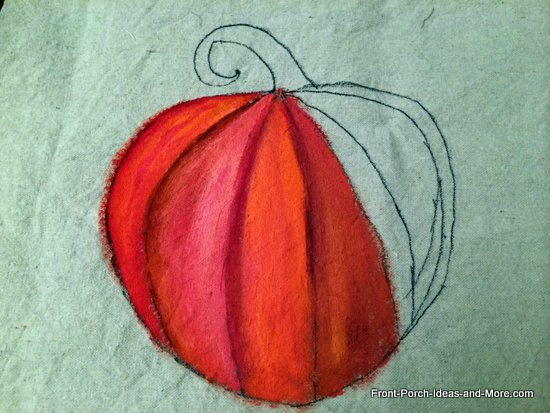 almost done painting this pumpkin pillow topper