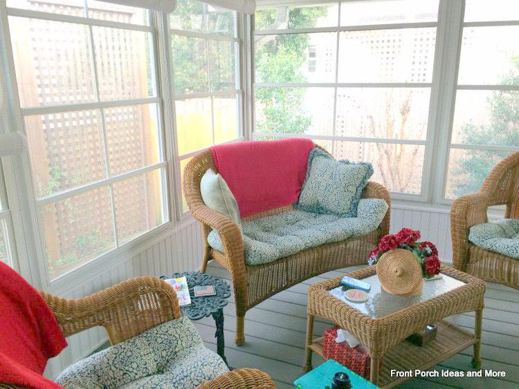 Pat's comfortable back porch