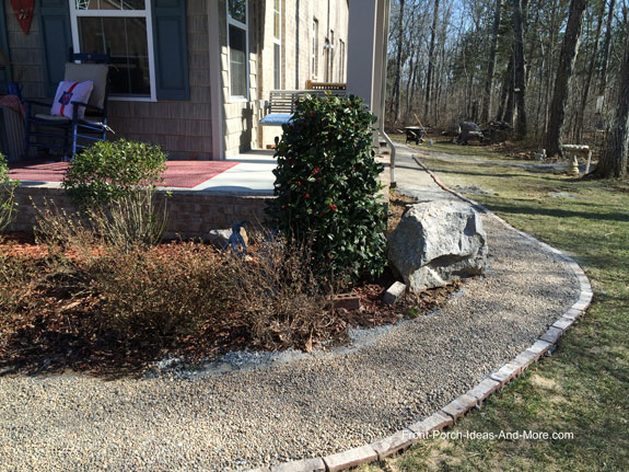 Crushed Stone Walkways : Diy walkway idea pea gravel for a cottage style home