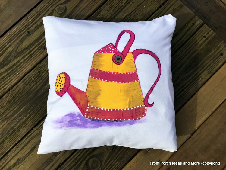 sprinkling can for a pillow topper