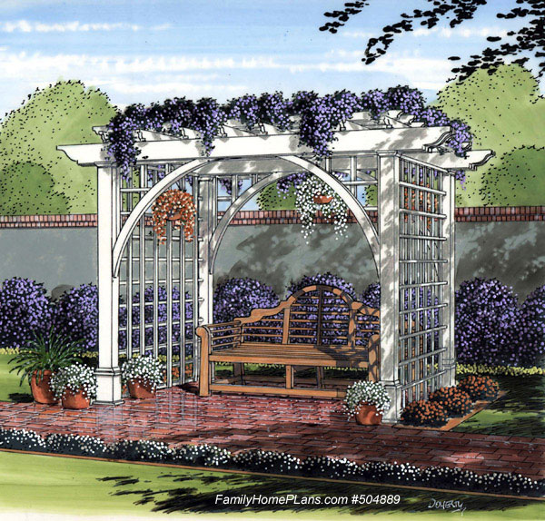 garden arbor from familyhomeplans