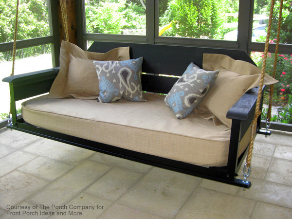 adjustable cottage style swing bed by The Porch Company