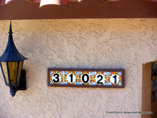 house number holder on front porch