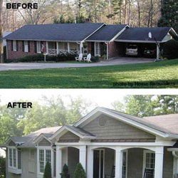 before and after front porch remodel