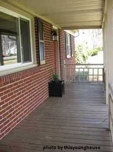Before painting the porch floor