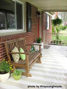 After painting stripes on porch floor