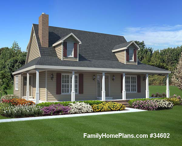 porch plan 34602 house plans with porches house plans online wrap around porch,Small Cottage House Plans With Wrap Around Porch