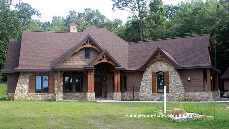 Actual home built from Family Home Plans #65862