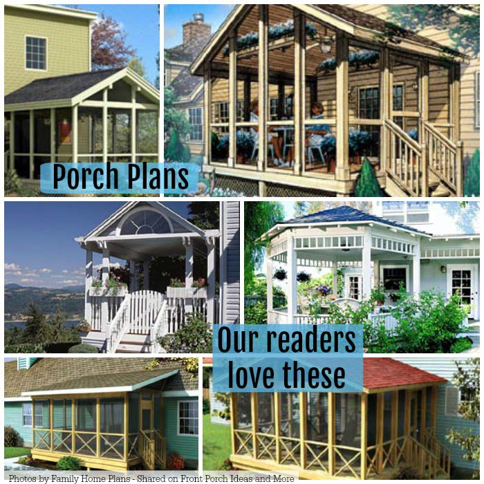 Porch plans our readers love