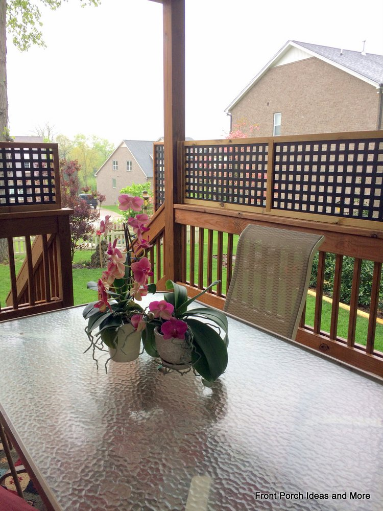 Create privacy panels for treasured privacy on your porch