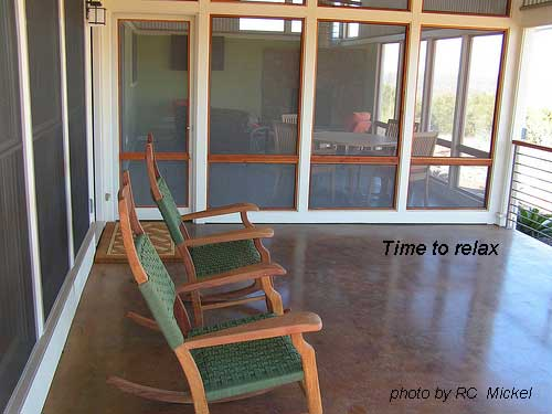 rocking chairs and time to relax