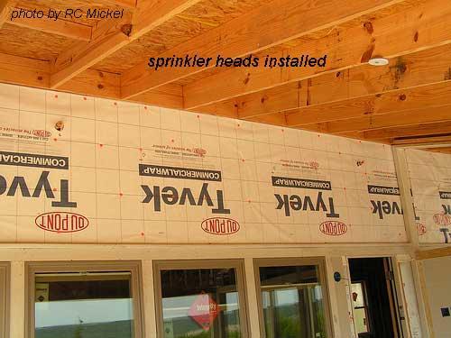 sprinklerhead installed