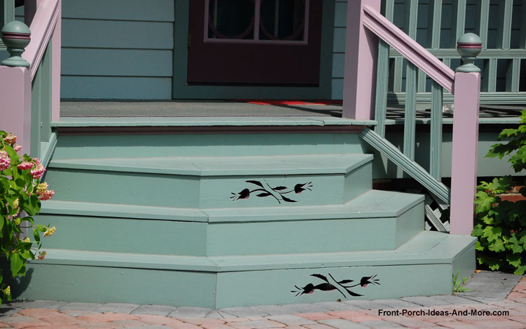 porch steps with embellishments