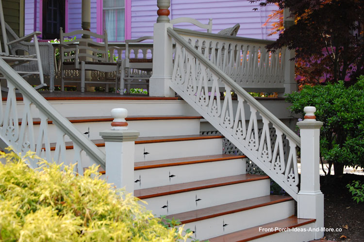Superieur Porch Stair Case Embellishment, Like This Pretty Stenciling, Adds Extra  Appeal