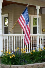 Porch decorating flag