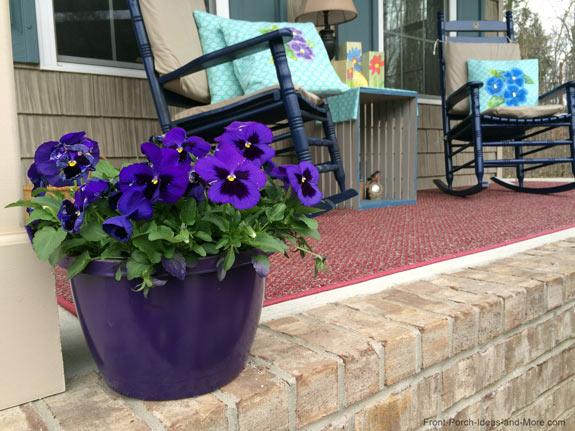 Purple painted pot