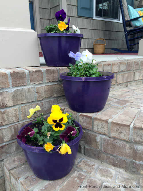 Purple painted pot