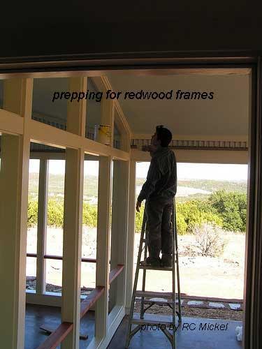 prep redwood frame