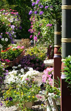 Spring decorating ideas with flower garden