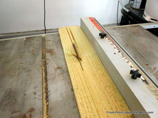ripping board to 3 1/2 inches on table saw