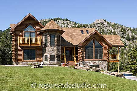 Roger wade log home pictures timber frame home design for Beautiful a frame homes