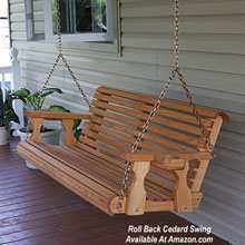 roll back natural cedar porch swing