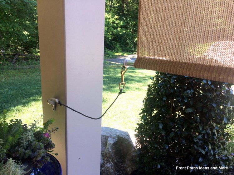 tie down for exterior porch shade
