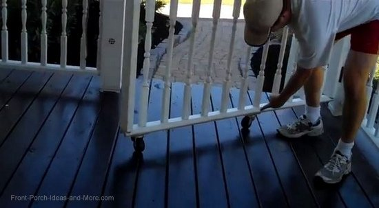 example of a rolling porch gate