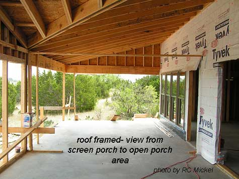 Perfect ... Patio Roof Framing : Build A Porch Part Screened Front ...