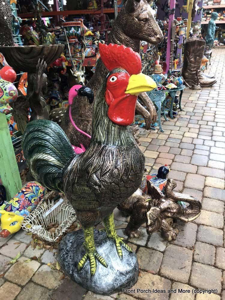 Yard Art Emporium - adorable rooster