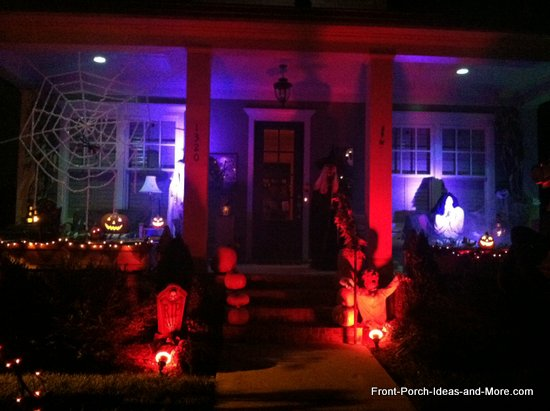 scary halloween decorations - entire porch decorated