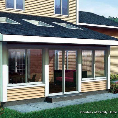 screen porch plan 90021 by FamilyHomePlans.com