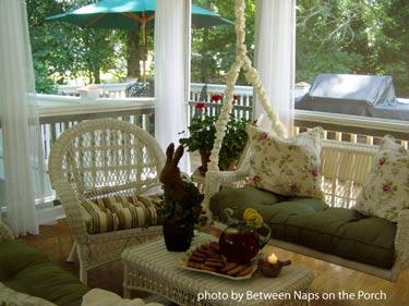 Interior of screen porch