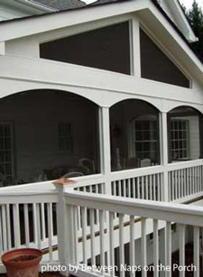 Porch screened