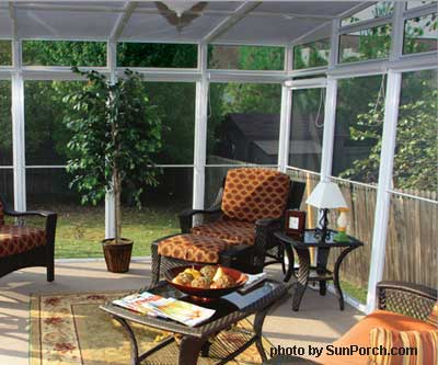 Screened In Porch Ideas. SunRoom Porch Kit