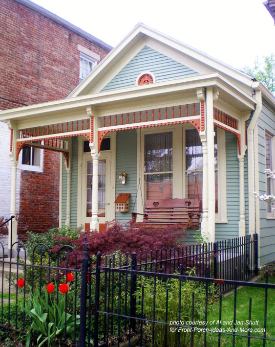 shotgun house with exterior house trim