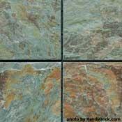 Slate decking tiles  - Copper Jade